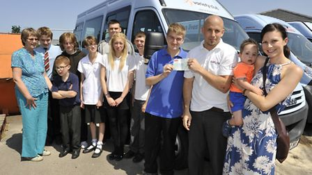 Samuel Pepys School, St Neots, has received a donation of £300 from GAP Home Improvements, pupil Dav