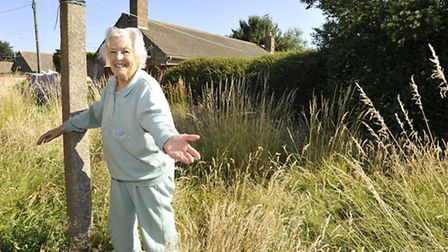 Pensioner Joan Reeves from Huntingdon, is desperate for a gardener