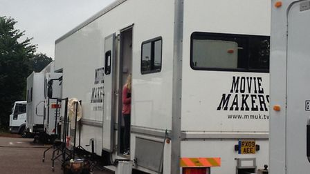 Movie trucks were seen at Westminster Lodge Leisure Centre