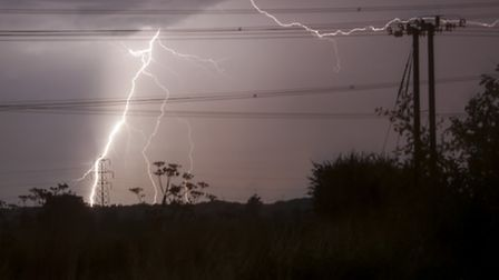 Lightning over St Neots Picture by Roger Skillin