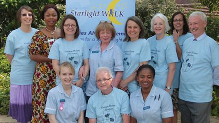 Staff at Garden House Hospice launch the starlight walk