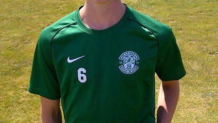 Tom Gardiner has signed for Hibs. Picture courtesy of Hibs