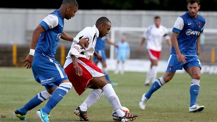 James Comley in action against Leyon Orient. Picture by Leigh Page