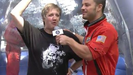 Wannabe space traveller Sue Nelson was put through her paces to join astronauts aboard a new space p