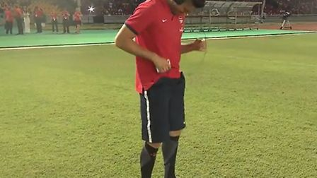 Arsenal's pre-season Asia Tour's latest video has a compilation of funny outtakes from the trip, wit