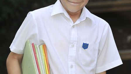 Harry Laycock, aged 11, has never had a day off at Buckden Primary School