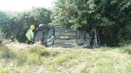 Accident in Offord Cluny