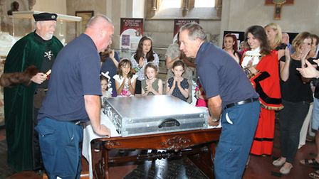 Magna Carta is placed in St Albans Abbey