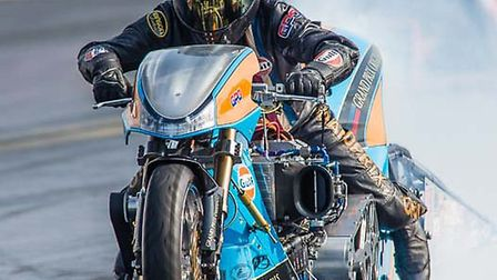 Drag racer Ian King. Picture courtesy of Ivan and Rose Hughes