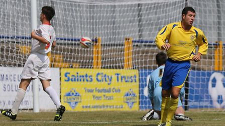 John Frendo spins away after slotting the Saints into the lead. Picture by Leigh Page