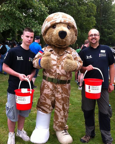 Fundraising for Help for Heroes at the Jenson Button Trust Triathlon, at Luton Hoo.