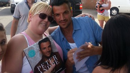 Kerry Drinkwater with Peter Andre
