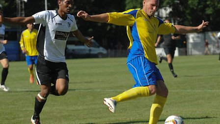 James Gray helped Saints keep a clean sheet on Saturday against Corby Town. Picture by Bob Walkley