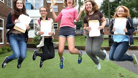 Isabel Barlow, Sarah Freeman, Chloe Carter, Eleanor Hynes and Cassie Wrightson of Sir John Laws are