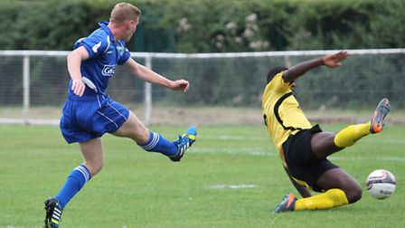 Clarke-Mardell fires in the opening goal for London Colney