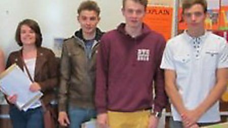 Bassingbourn Village College students celebrate their GCSE success