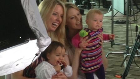 St Albans' singing mums Phelia, Laurenne Chapman and Sally Williams, with their babies Amelia and Ph