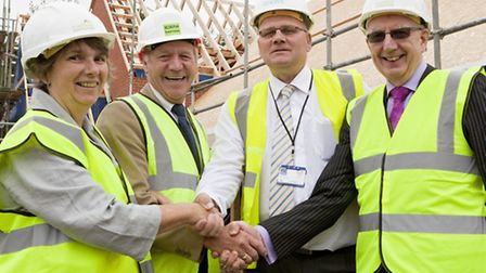 Val Cutting, Vice Chair Hundred Houses Society; Mike Goodson, Managing Director Iceni Homes; Jose Ha