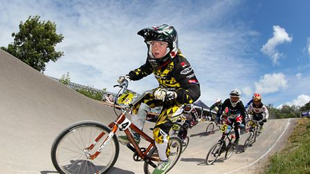 James King in action in round nine of the British Cycling British Bmx Series. Image by Spencer More