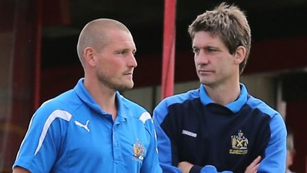 St Albans City joint managers James Gray and Graham Golds.