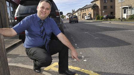 St Neots parking idea at Four Counties Insurance, Operations Director Charles Green