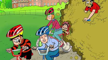 Dennis the Menace at Wimpole Hall for The Beano