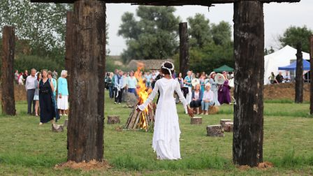 White witches took part in the ceremony to mark the opening of the henge.