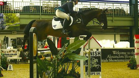 Sophie Holliday on Limo at the British Showjumping Scope Festival.