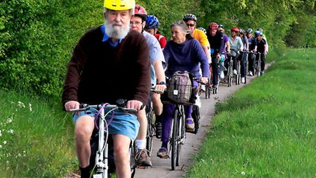 Members of the A10 Corridor Cycling Campaign on an awareness ride held earlier this year
