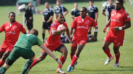 Action from the National Pub Sevens, held at Harpenden Rugby Club. Picture by James Latter