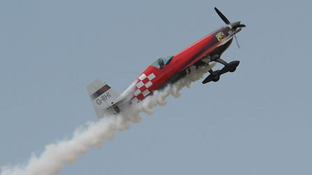 Mark Jefferies performing at the Little Gransden Air Show