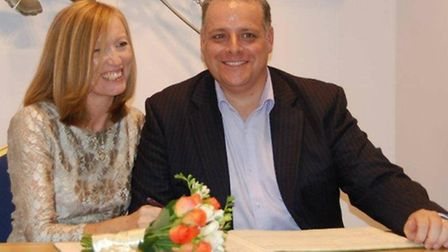 Paul Westerman and his wife Ellissa who was still in hospital yesterday (Wednesday)
