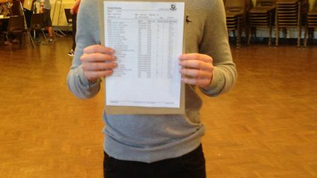 St Peter's pupil Stan Smith who was delighted with his seven A*s, two As and a B