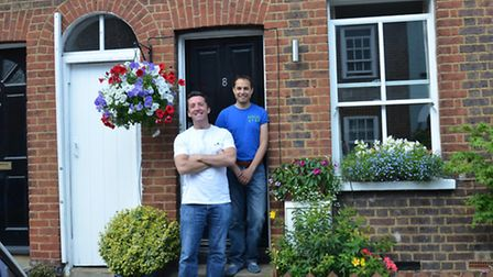 David Bell and Marc Rowlands and their winning garden