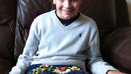 Brave Chad Martindale of Sandridge, St Albans, who is fighting a brain tumour