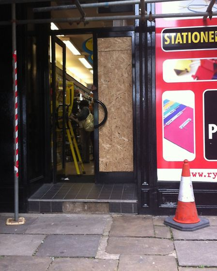 Rymans was targeted by thieves on Tuesday morning