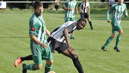 Dubi Ogbonna scored in St Ives' 3-1 win over Soham Town Rangers in the last round of the Cup. Pictur
