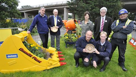 Anglia In Bloom award winners, (l-r) Jim Flemming from Atkins, John Thackray, Mary Evans and Malcolm
