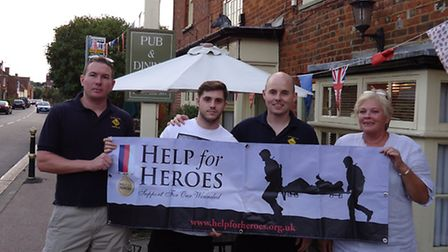 The annual Bush Bike Pub Crawl through Kimpton and other parts of Herts raised over £1,000 for Help