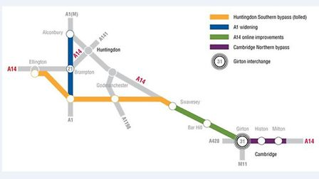 A14 upgrade plans 2013