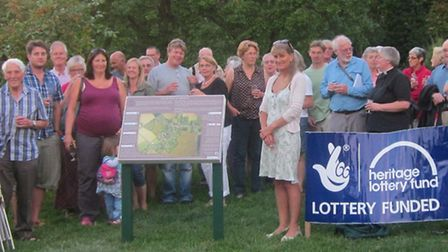 Orwell Past and Present completed their Heritage Lottery funded project with an interpretation board