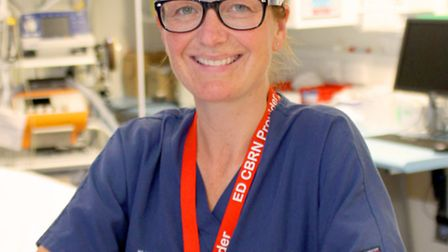 Deborah Swann, an emergency nurse practitioner at Addenbrooke's, who is the only nurse in the UK Int