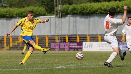 James Kaloczi has the attributes to play centre back and in midfield. Picture by Leigh Page