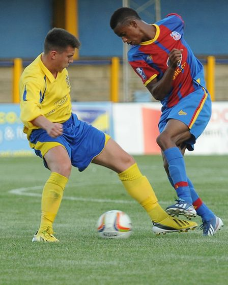Matt Taylor impressed on Saturday against Enfield Town in the FA Cup. Picture by Bob Walkley