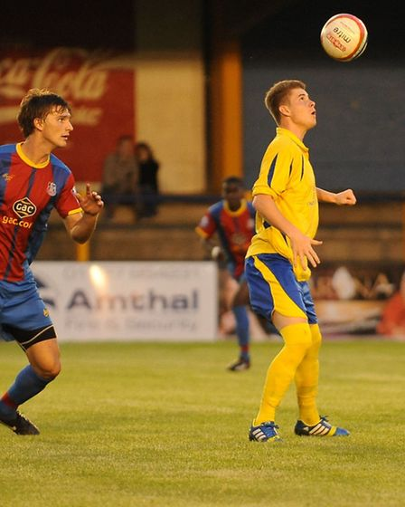 Elliot Bailey in pre-season action for St Albans City against Crystal Palace. Picture by Bob Walkley