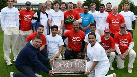 Barclays staff took on a Sports Connections Foundation XI at Huntingdon Cricket Club