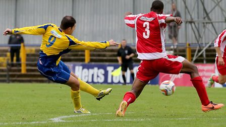 John Frendo scores a late consolation goal. Picture by Leigh Page