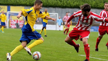Harrision Georgiou making a second-half debut for the Saints. Picture by Leigh Page
