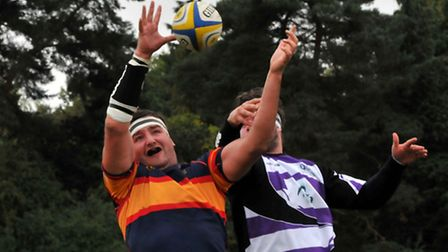 Sam Barrow takes the ball in the lineout.