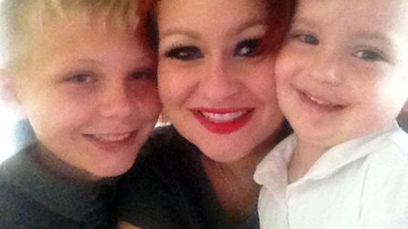 Charmaine Wilkinson with her son Maison and her daughter Poppy after her gastric bypass operation.